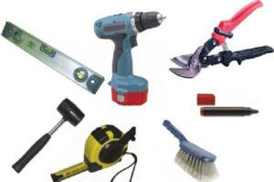 Инструменты для крепления профнастила