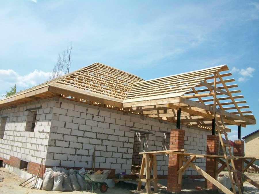 Строим крышу дома