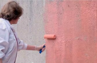 Как правильно покрасить бетонную стену