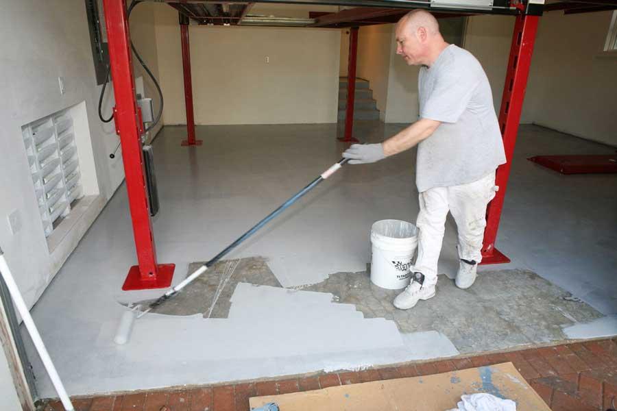 Покраска бетонной поверхности