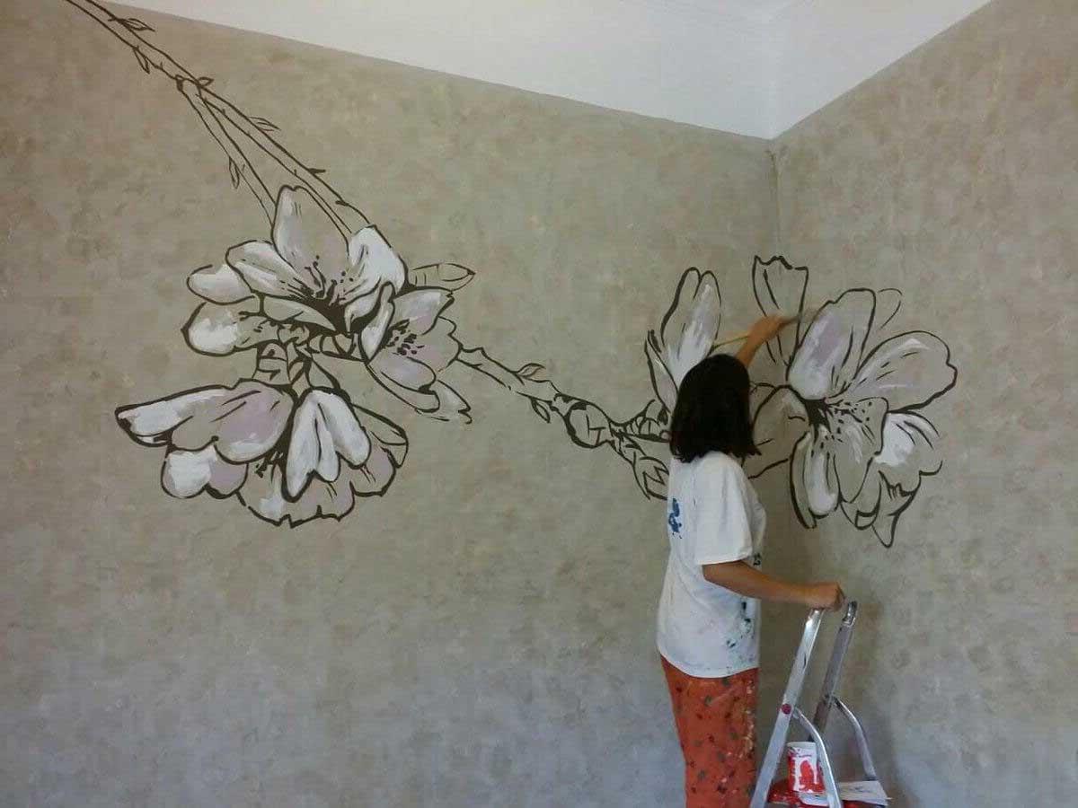 Нанесение рисунка на стены