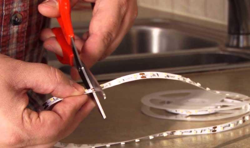 Как отрезать светодиодную ленту