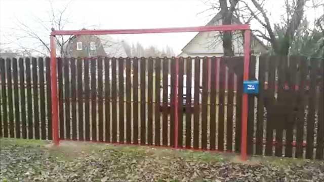 Как правильно сделать откатные ворота своими руками