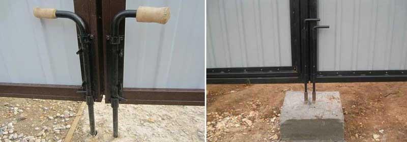 Как установить распашные ворота своими руками
