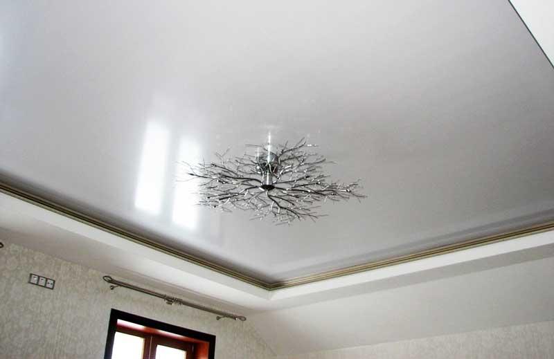 Какие бывают натяжные потолки виды материалов