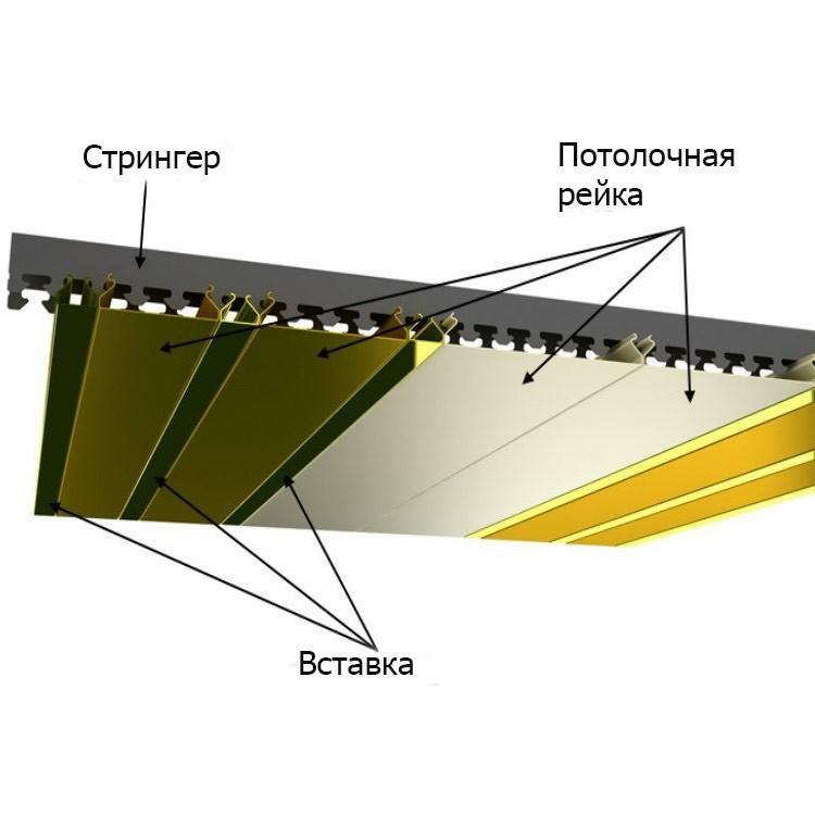 Как установить реечный потолок в ванной комнате