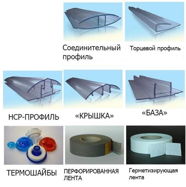Как закрепить сотовый поликарбонат