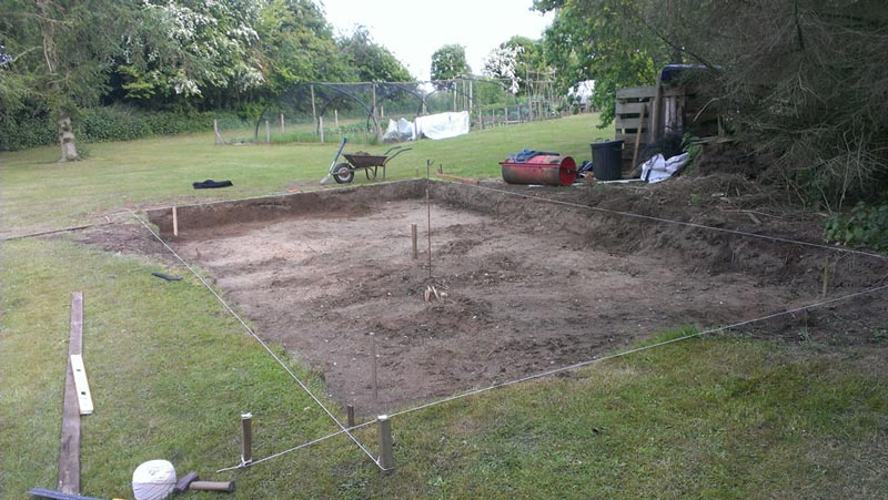 Подготовка участка для фундамента
