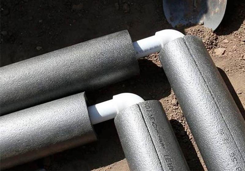 Утепляем водопроводные трубы