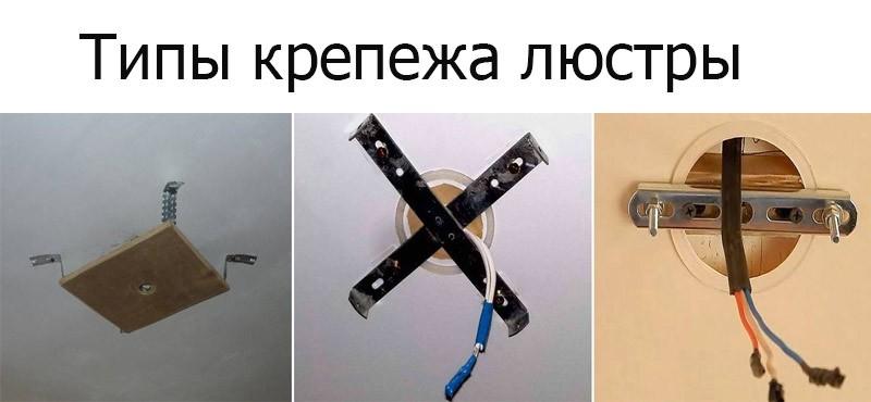 Монтаж люстры на натяжной потолок