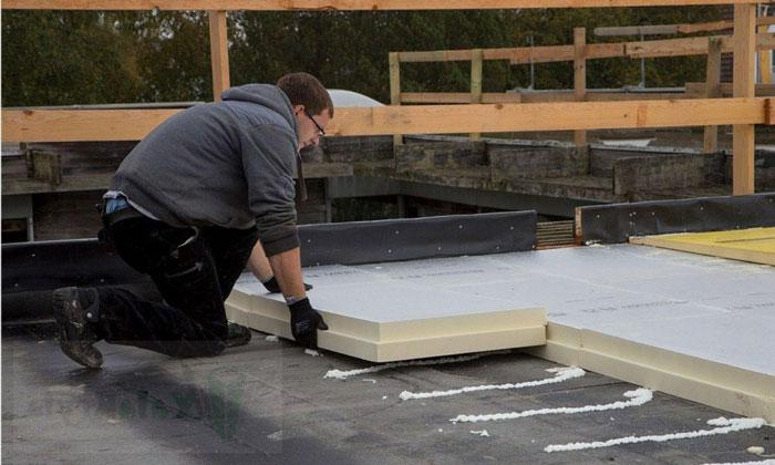 Утеплитель на плоской крыше