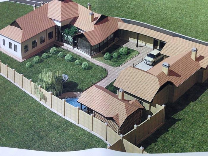 Планировка земельного участка под дом