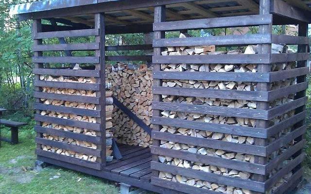 Как построить сарай для дров своими руками