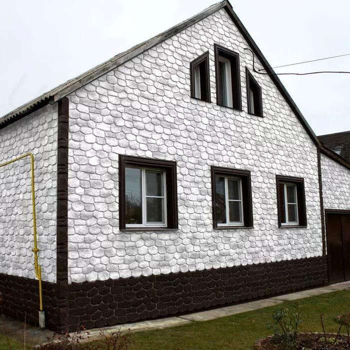Как самому обшить дом фасадными панелями