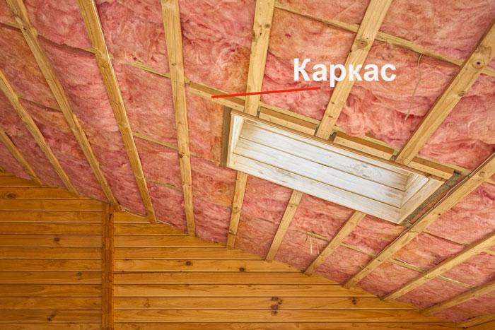 Утепление потолка