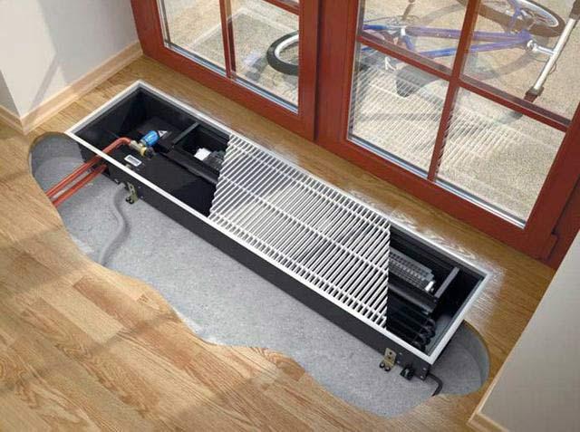 Конвекторы отопления водяные напольные встроенные