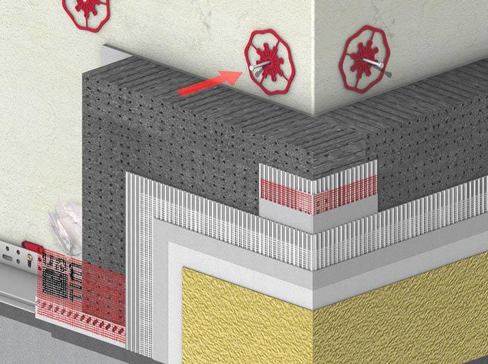 Монтаж теплоизоляционных плит
