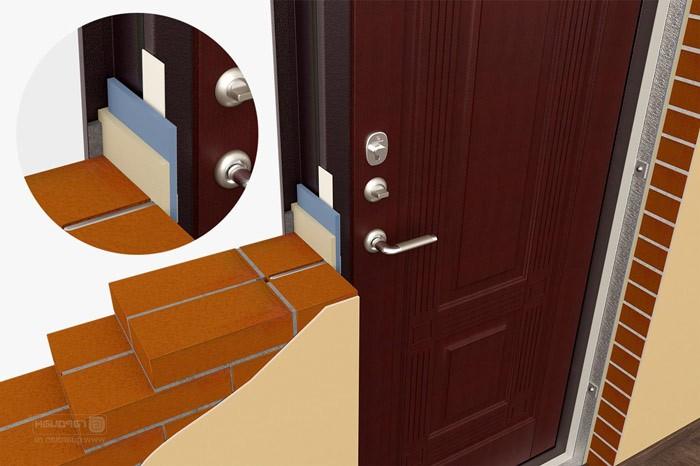 Тёплая установка двери