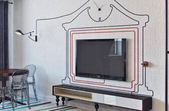 Как скрыть провода от телевизора на стене
