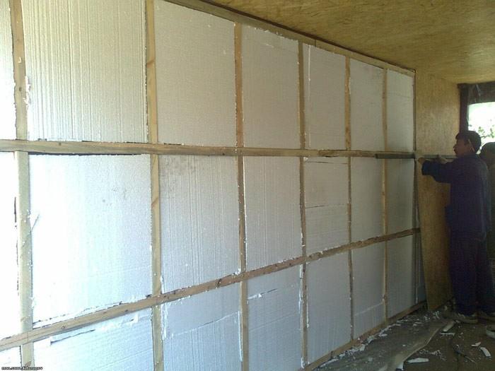 Утепляем стены гаража