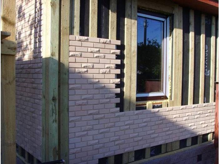 Фасадная плитка на фасаде